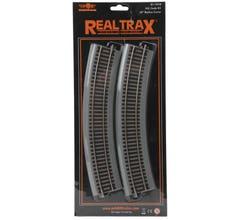 "MTH #81-1018 HO RealTrax 18"" Radius Curve Track w/Roadbed - (4 Pack)"