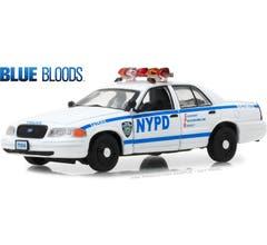 "GreenLight #86519 2001 Foed Crown Victoria Police Interceptor ""Blue Bloods"" 1/43"