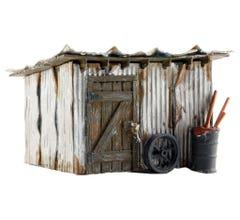 Woodland Scenics #BR5856 Tin Shack Built Up