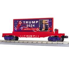 MTH 30-76851 Flat Car w/ Billboard - Donald J. Trump (2024)