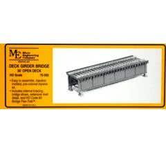Micro Engineering HO #75-502 30' Open Deck Girder Bridge Kit