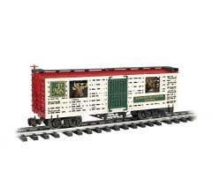 Bachmann #98704 NP&S w/Reindeer - Animated Stock Car