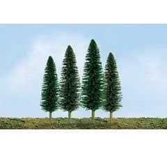"""JTT #92031 Cedar Trees 4""""- 6"""" (24 per pack)"""
