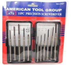 American Tool Group #11937 11 Piece Precision Screw Driver