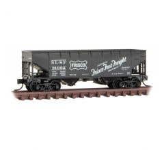 Micro Trains #05500610  Frisco - Rd# SL-SF 91062 33' Twin Bay Hopper