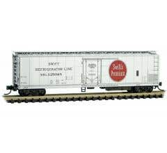 Micro-Trains # 06900240 51' Rivet Side Mechanical Reefer, Swift Refrigerator Line #25048