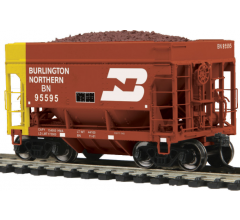MTH #80-97023 70-Ton Center Discharge High Extension Ore Car - Burlington Northern