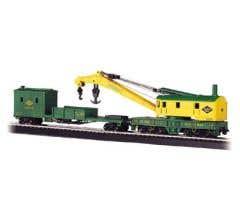 Bachmann #16110 250-Ton Steam Crane & Boom Tender-Reading