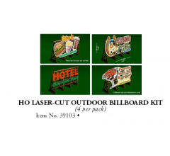 Bachmann #39103 Lazer Cut Outdoor Billboard Kit (4 pcs)