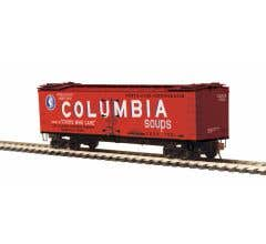 MTH #80-94057 R40-2 Woodside Reefer Car - Columbia Soups No. 7501