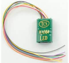 TCS #1479 KAM4-LED 4 function, LED-ready, hardwire decoder with a built in KA-2 Keep-Alive