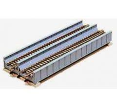 "Kato #20-457 186mm (7 5/16"") Double Track Plate Girder Bridge, Gray"
