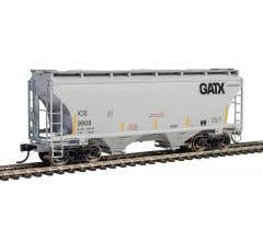 Walthers #910-7557  39' Trinity 3281 2-Bay Covered Hopper - Iowa, Chicago & Eastern w/GATX Reporting Marks #915