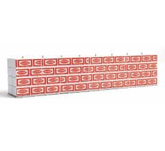 Walthers #949-3121- Wrapped Lumber Load for Walthers Proto CC&F Bulkhead Flatcar- Canfor