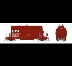 Rapido #143002A HO Long Barrel Ore Hopper- CN Mineral Brown