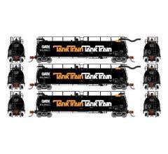 Athearn #15053 TankTrain A/B Intermediate GATX/Orange #48663/48664/48674