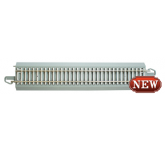 "Bachmann #44710  Nickel Silver E-Z Track w/CONCRETE TIES - 9"" STRAIGHT TRACK (4/card)"