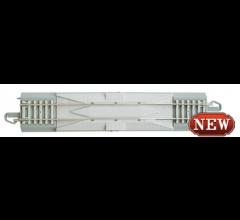 "Bachmann #44711  Nickel Silver E-Z Track w/CONCRETE TIES - 9"" STRAIGHT TERMINAL RERAILER with WIRE"