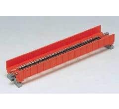 "Kato #20-450 186mm (7 5/16"") Single Track Plate Girder Bridge, Red"