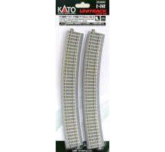 "Kato #2-242 730mm (28 3/4"") Radius 22.5º CT Easement Track Left + Right"