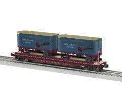 Lionel #2026672 Polar Express 50' Flatcar w/ 20' Trailers #122520