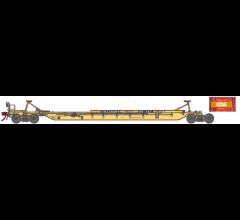 Athearn #15534 HO Primed for Grime 57' Trinity 3-Unit Spine Car - TTRX #360999