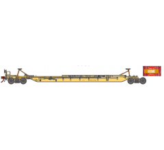 Athearn #15535 HO Primed for Grime 57' Trinity 3-Unit Spine Car - TTRX #361041