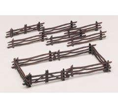 Bachmann #45984 Rustic Fence Kit (12 pieces)
