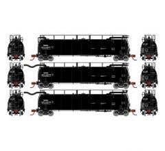 Athearn #15093 TankTrain A/B Intermediate GATX/Black #28227/28228/28238