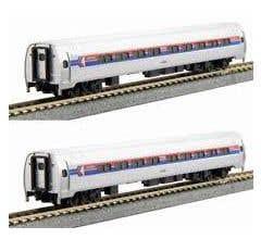 KATO #106-8012 Amfleet I Phase I Coach 2-Car Set A