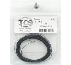 TCS #1308 20' 36 Gauge Black Wire