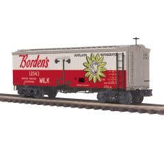 MTH #20-94488  36' Woodsided Reefer Car - Bordon's Milk