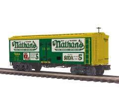 MTH #20-94534 36' Woodsided Reefer Car - Nathan's GREEN #1310 (Trainworld)