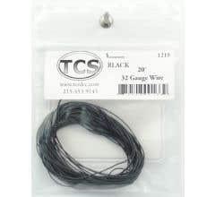 TCS #1217 - 32 Gauge Black 10' Length Wire