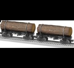 Lionel #1926570 Long Bell Skeleton Log Car 2 Pack B