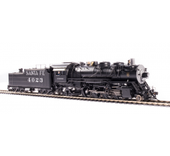 Broadway Limited #4765 ATSF 4000 Class 2-8-2 #4023 w/ switching pilot and large rear headlight Oil Tender Paragon4 Sound/DC/DCC HO