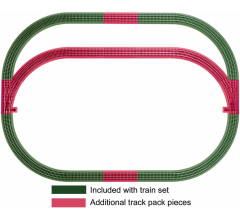 Lionel 12031 Fastrack Outer Passing Loop Add-on Track Pack