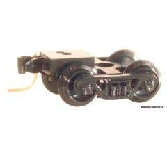 Micro Trains #00302043 (1024) Barber Roller Bearing Trucks with Medium + Extended Coupler (1 pair, Assembled)