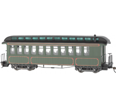 Bachmann #26202 Olive Unlettered - Coach/Obser. w/ Lighted interior