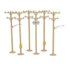MTH #30-1091 RailKing Telephone Pole Set 6 Pieces