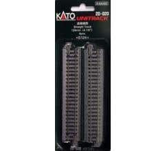 """Kato #20-020 124mm (4 7/8"""") Straight Track [4 pcs]"""