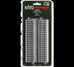 """Kato #2-130 174mm (6 7/8"""") Straight Track [4 pcs]"""