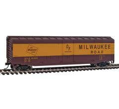 Walthers #931-1405 Milwaukee Road (Boxcar Red, yellow)#8491