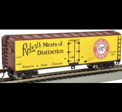 Bachmann #19807 Robert's Meats of Distinction - 40' Wood-side Reefer