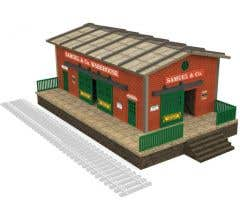Bachmann #39118 Warehouse with Motorized Working Doors