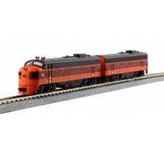 Kato #106-0431 N EMD FP7A & FP7B Milwaukee Road- (2) Locomotive Set- #90A,& #90B Standard DC DCC Ready