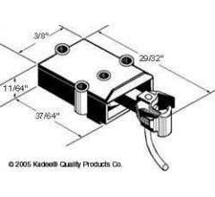 Kadee #802 S-Scale Coupler with gear box - BLACK