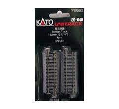 """Kato #20-040 62mm (2 7/16"""") Straight Track [4 pcs]"""