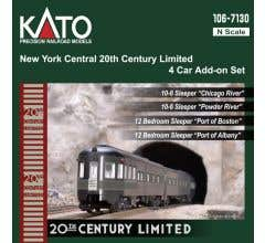 KATO #106-7130 New York Central 20th Century Limited 4 Car Add-On Set