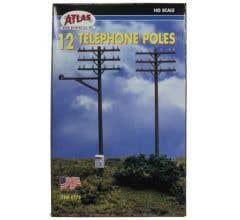 Atlas #775 Telephone Poles (12/set)